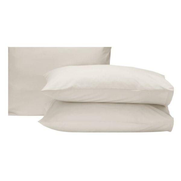 Kingtex Pillow Cover2PcsSet,50 x75cm180TC Cream