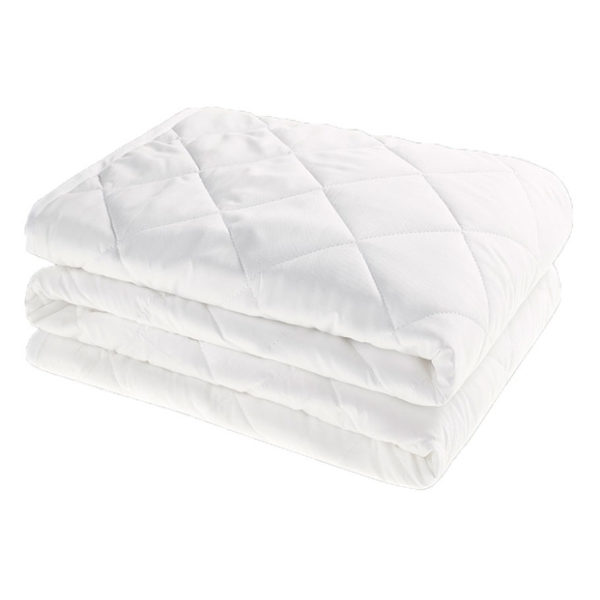 Kingtex Mattress Protector Quilted Single 90x190cm White
