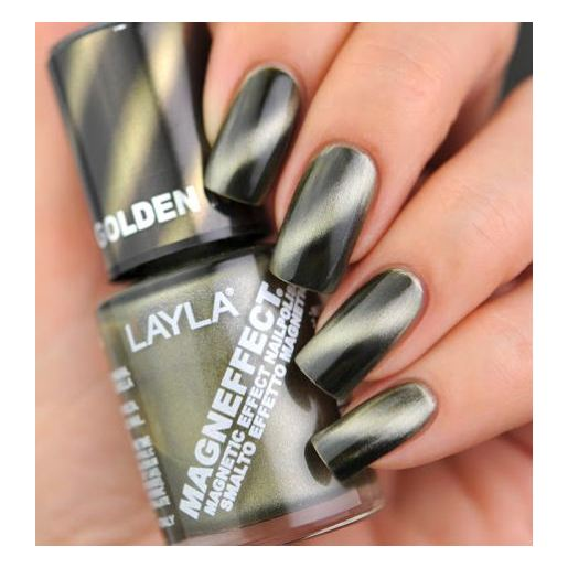 Layla Magneffect Nail Polish Golden Nugget 006