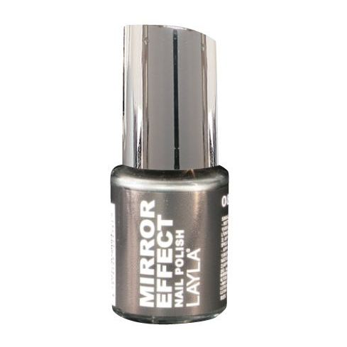 Layla Mirror effect Nail Polish Black As Ebony 008