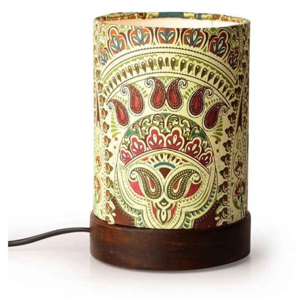 Moorni Mini Ethnic Table Lamp In Sheesham Wood EL-003-115