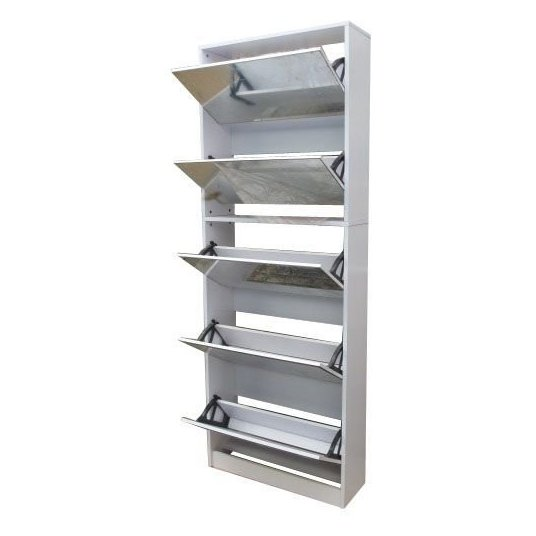 CLASS Shoe Cabinet with Full Length Mirror White ASTV4110