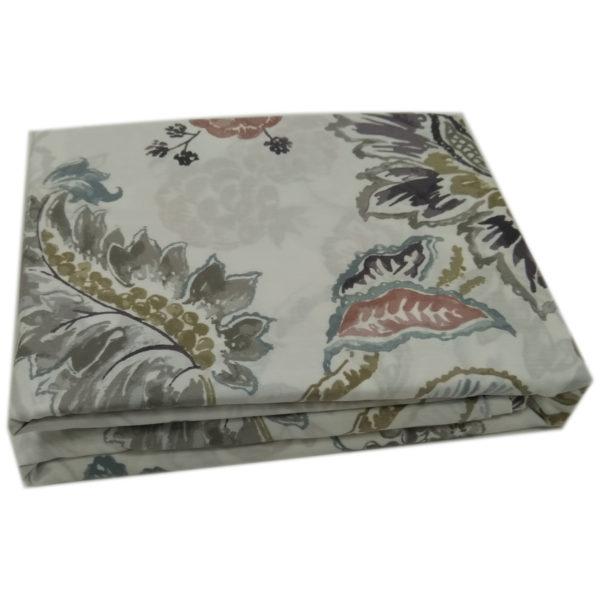 AIWA AI-811-3/180TC King Flat Sheet Set Poly Cotton Print Brown