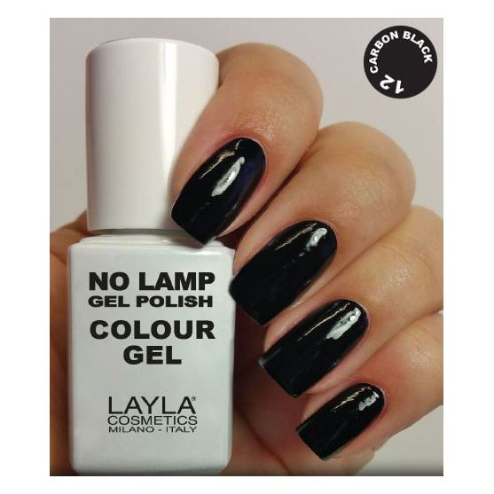 Layla No Lamp Gel Nail Polish Carbon Black 012