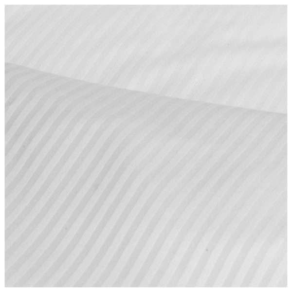 Kingtex Cover Queen 245X265cm Satin Stripe With 2 Pillow cover White