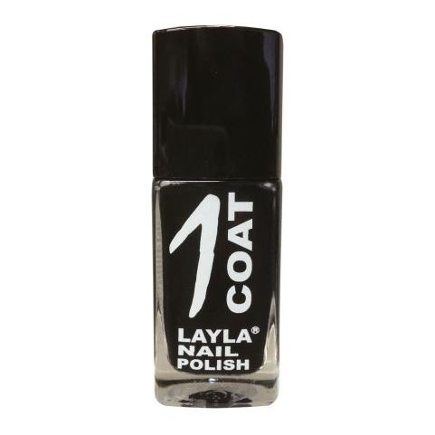 Layla 1 Coat Nail Polish Black Rock 012