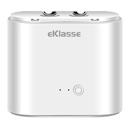 Eklasse Bluetooth Earphone White With Charging Case