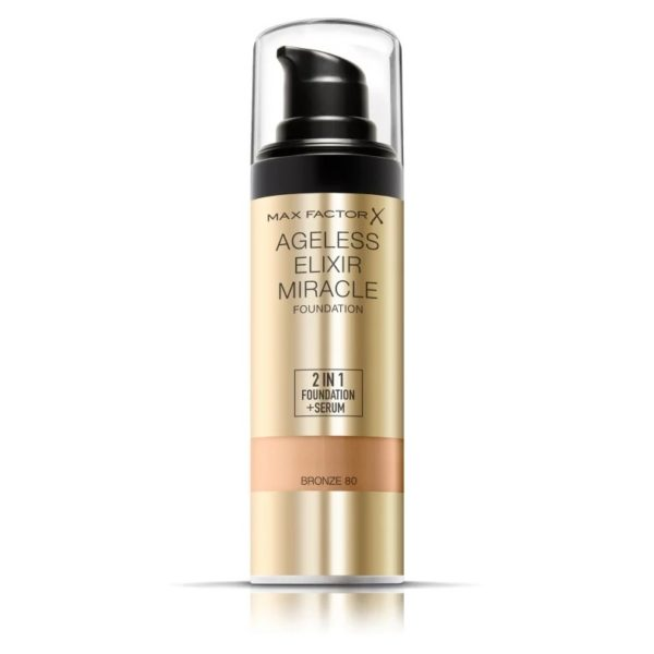 Max Factor Ageless Elixir Miracle Foundation 80 Bronze