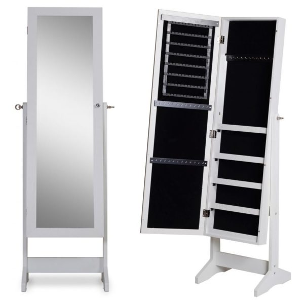 CLASS Jewellery Mirror Cabinet White CL6537WT