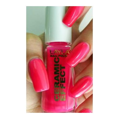 Layla Ceramic Effect Nail Polish The Pink Fluo 093