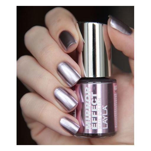 Layla Mirror effect Nail Polish Cosmo Lilac 002
