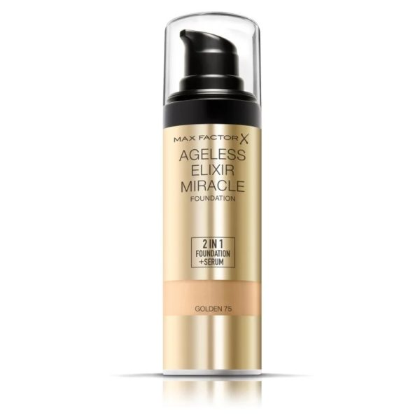 Max Factor Ageless Elixir Miracle Foundation 75 Golden