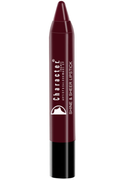Character Shine & Sheer Lipstick Black SSL015