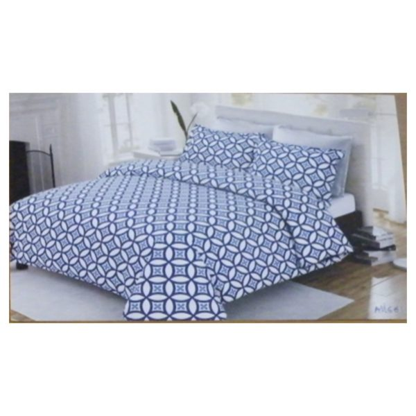 AIWA AI-661-7/144TC Double Comforter Set 160x240cm Polycotton Print Blue