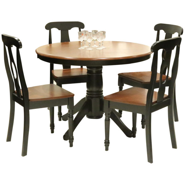 HomeStyle SH547486 Napolien 4 Seater Round Shape Dining Set Brown