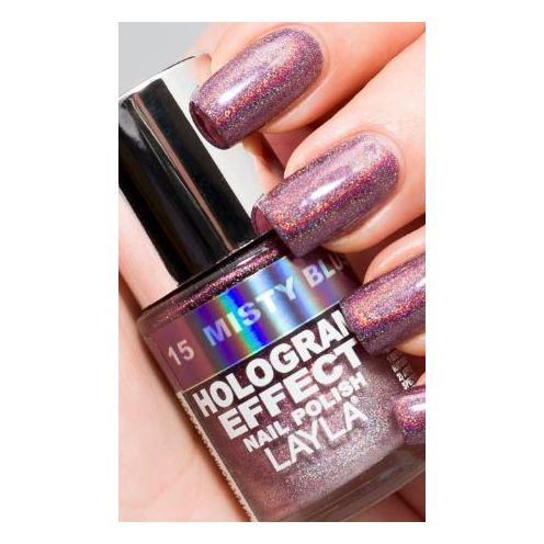 Layla Hologram effect Nail Polish Misty Blush 015