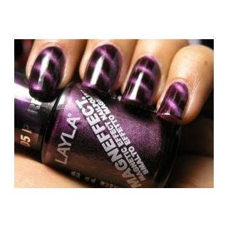 Layla Magneffect Nail Polish Purple Galaxi 005