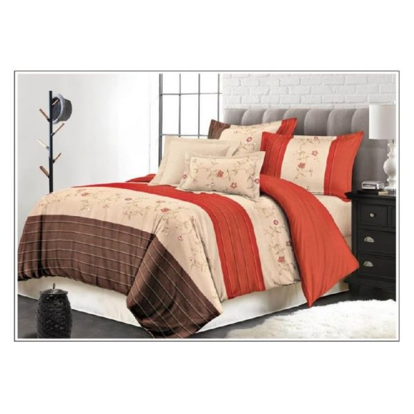 AIWA AI-755-1/M.FIBER Qween Comforter Set 160x220cm Poly cotton Print Brown