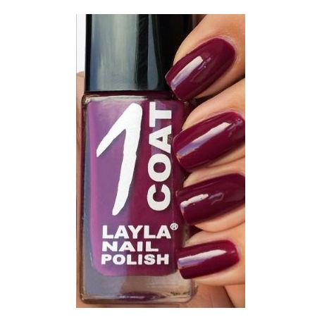 Layla 1 Coat Nail Polish Cranberry 023