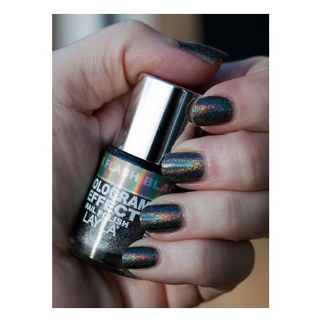 Layla Hologram effect Nail Polish Flash Black 008