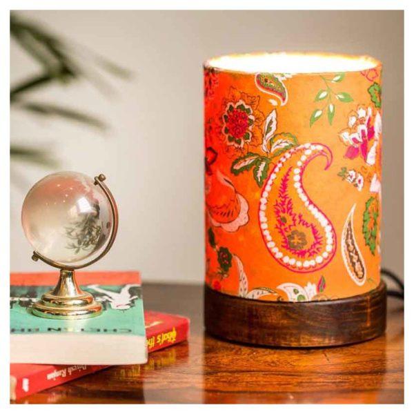 Moorni Mini Paisley Table Lamp In Sheesham Wood EL-003-114