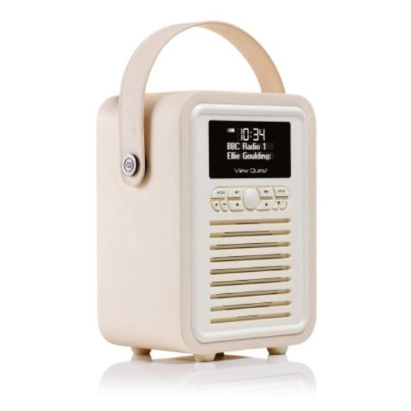 Viewquest Retro Mini Radio Cream