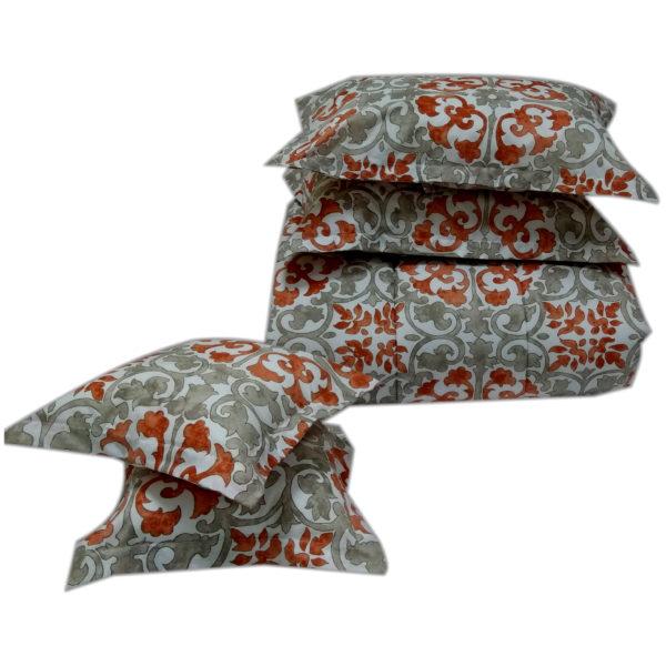 AIWA AI-510-6/144TC Qween Comforter Set 240x260cm Polycotton Print Red