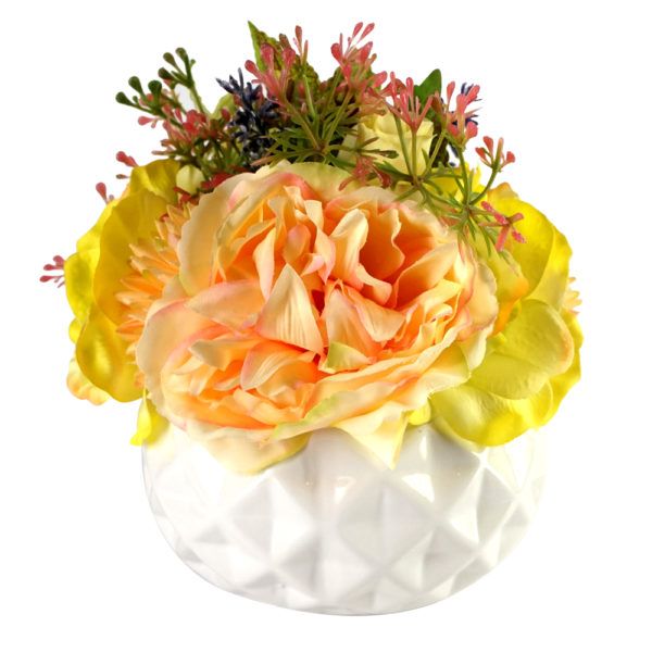 Rosso SDROSS20 Yellow Flower with White Vase