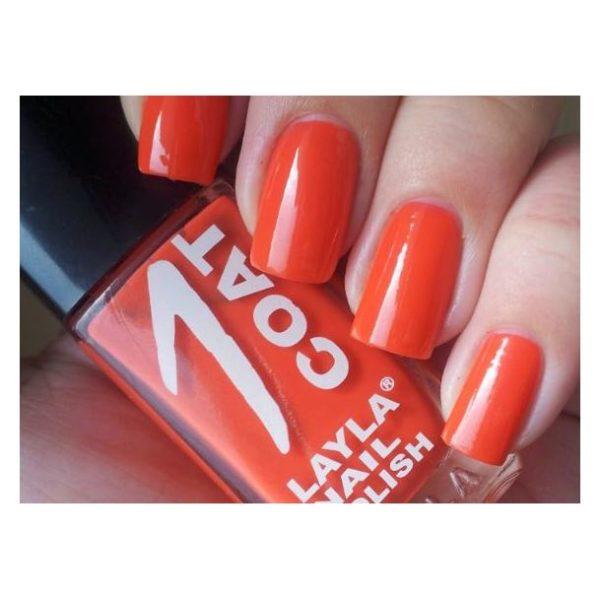 Layla 1 Coat Nail Polish Orange Chic 005