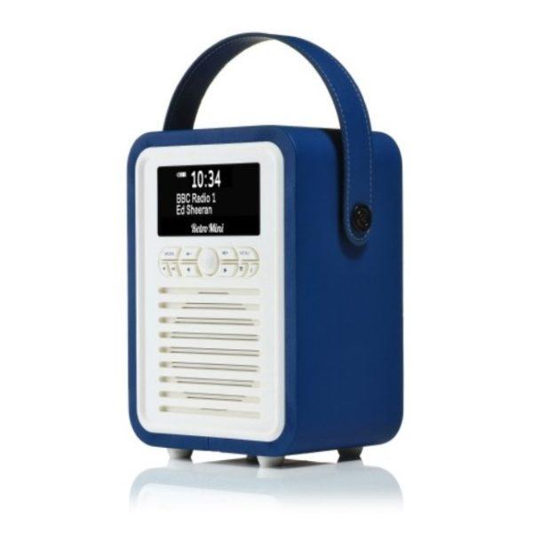 Viewquest Retro Mini Radio Navy Blue