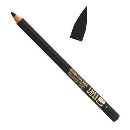 Layla Kajal Satin Pencil Black 001