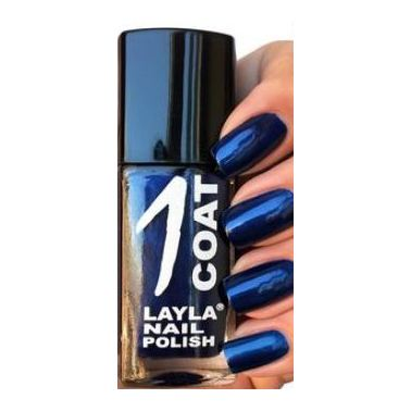Layla 1 Coat Nail Polish Blue Peach 022