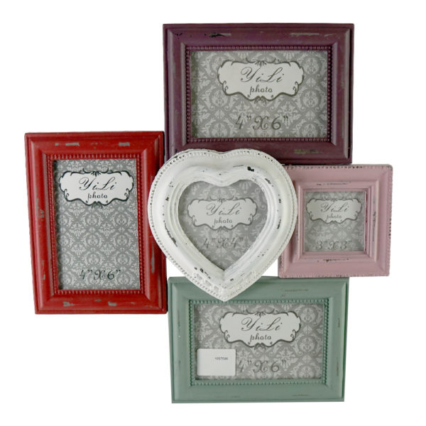 Hanging Heart Shape PhotoFrame Multicolor