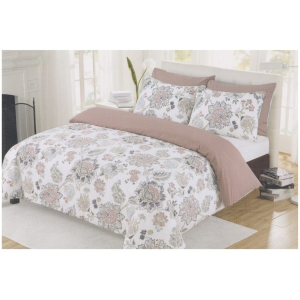 AIWA AI-815-5/180TC Double Comforter Set 220x240cm Poly Cotton Print Beige
