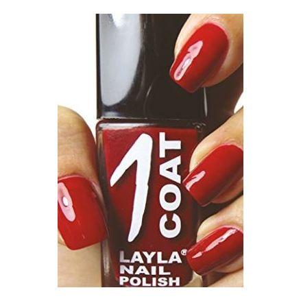 Layla 1 Coat Nail Polish Miss Red 007