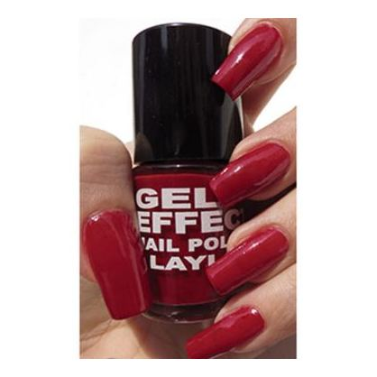Layla Gel Effect Nail Polish Power Red 006