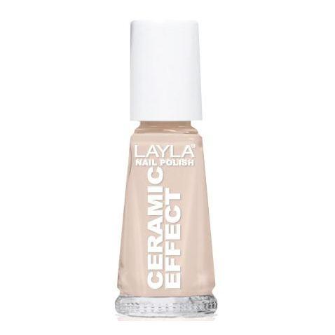 Layla Ceramic Effect Nail Polish White Peach 002
