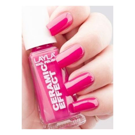 Layla Ceramic Effect Nail Polish Flirty Fucsia 009