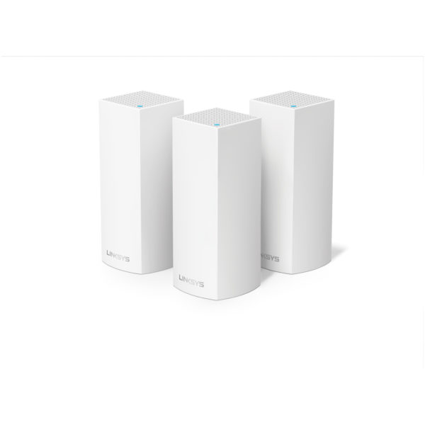 Linksys WHW0303 Velop Tri-Band AC6600 Modular Whole Home Wi-Fi Mesh System - Pack of 3 + Belkin F7D7602UK Netcam HD Wi-Fi Camera W/ Night Vision