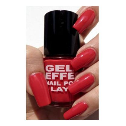 Layla Gel Effect Nail Polish Coral Red 005