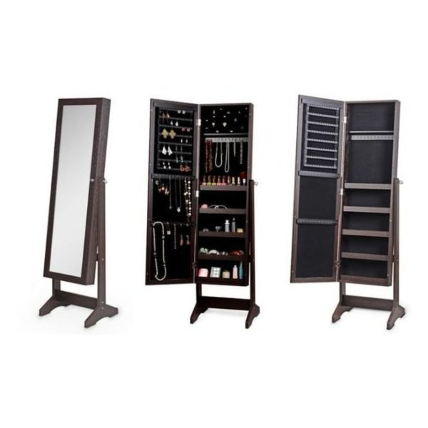 Class Jewellery Mirror Cabinet Brown CL13355BR