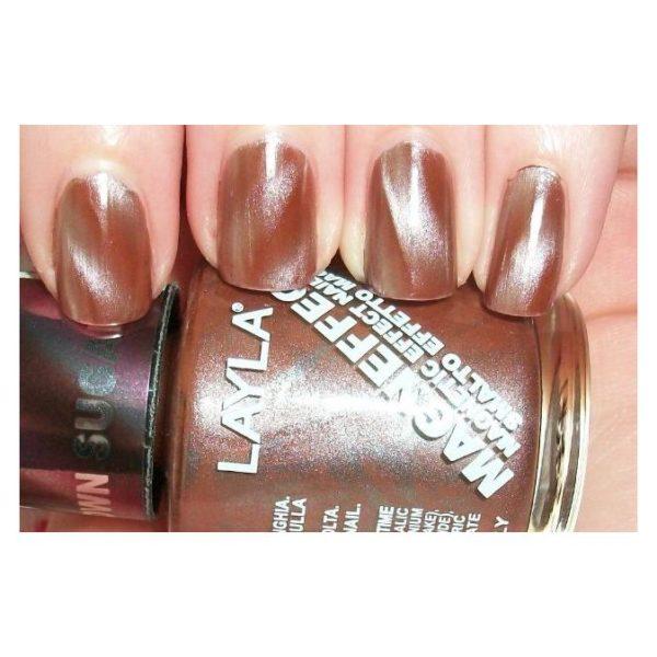 Layla Magneffect Nail Polish Brown Sugar 010