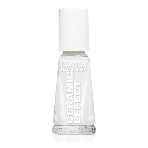 Layla Ceramic Effect Nail Polish Soft White 001