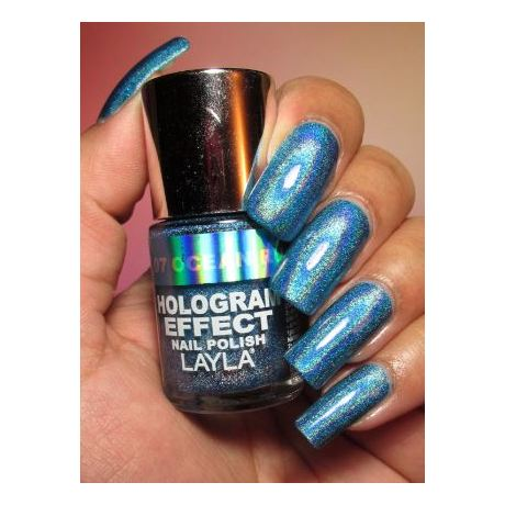 Layla Hologram effect Nail Polish Ocean Rush 007