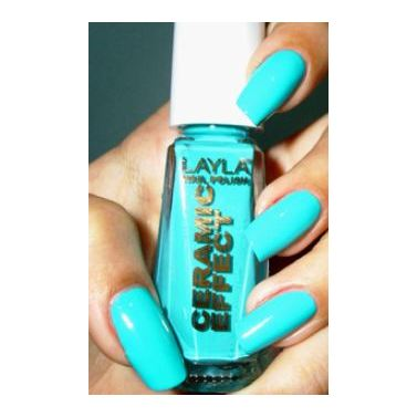 Layla Ceramic Effect Nail Polish Miami Green 042