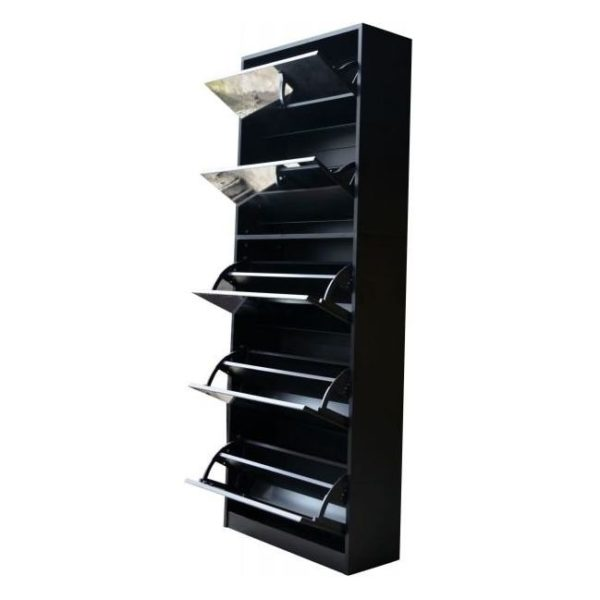 CLASS Shoe Cabinet with Full Length Mirror Black ASTV4111