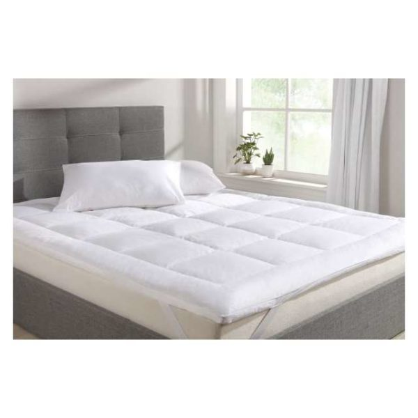 Mattress Topper Double 180x200cm White