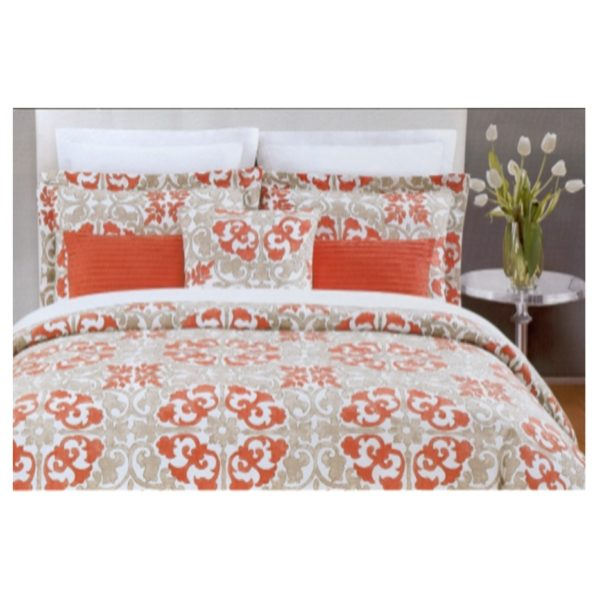 AIWA AI-510-9/144TC King Comforter Set 240x260cm Polycotton Print Red