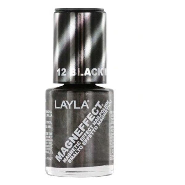 Layla Magneffect Nail Polish Black Metal 012