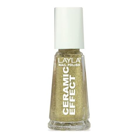 Layla Ceramic Effect Nail Polish Gold Bling 077